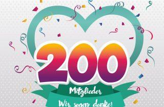 Wir feiern 200 Mitglieder!